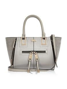 river-island-river-island-mini-zipped-winged-tote-bag-grey