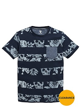 v-by-very-boys-skull-stripe-slub-t-shirt