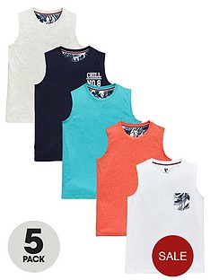 v-by-very-boys-colour-chill-tanks-5-pack