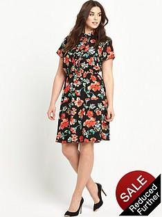 so-fabulous-ruffle-front-floral-print-shirt-dressnbsp