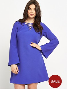 so-fabulous-crepe-cross-front-tunic-dress
