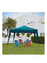 3 x 3m Pop-Up Steel Gazebo - Turquoise