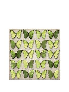 arthouse-green-metallic-foil-butterflies-canvas
