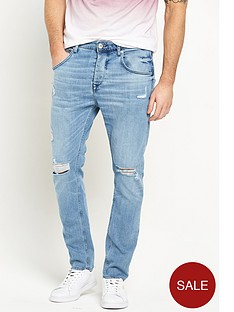 river-island-distressed-tapered-jeans