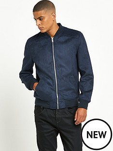 river-island-faux-suede-bomber-jacket