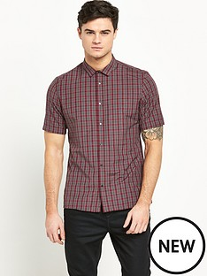 river-island-short-sleeve-mens-check-shirt
