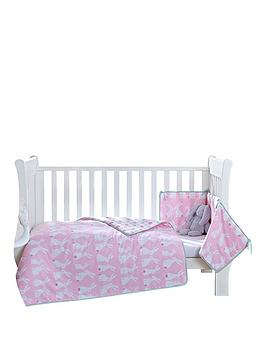 Clair De Lune Rabbits CotCot Bed Quilt and Bumper