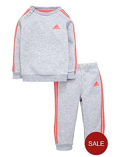 adidas-adidas-baby-girl-3-stripes-fleece-suit