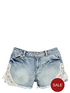v-by-very-girls-denim-shorts-with-crochet-detail