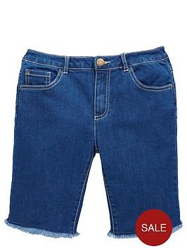 v-by-very-girls-longlinenbspskinny-denim-shorts