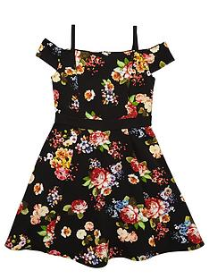 v-by-very-girls-bardotnbspfloral-skater-dress