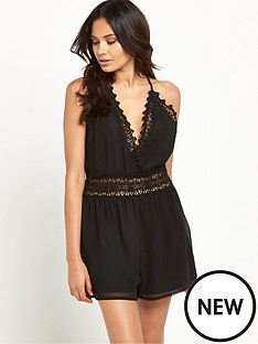 lipsy-lace-detail-playsuit