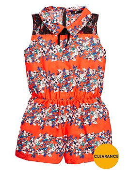 v-by-very-girls-lace-insert-playsuit-with-velvet-bow