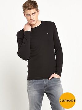 hilfiger-denim-original-long-sleeve-t-shirt-black