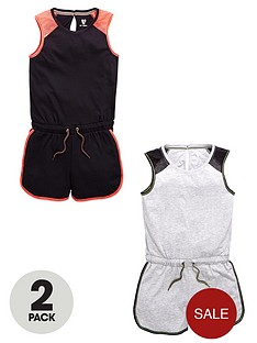 v-by-very-girls-sporty-essentials-playsuitsnbsp2-pack