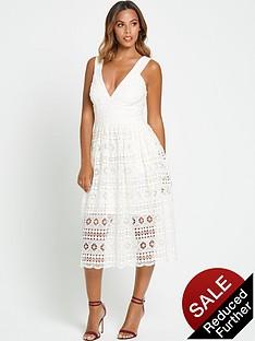 rochelle-humes-lace-midi-dress