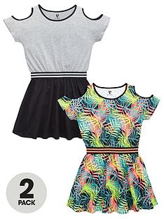 v-by-very-girls-sporty-essentials-dresses-2-pack
