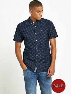 hilfiger-denim-hilfiger-denim-poplin-printed-button-down-ss-shirt