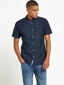 hilfiger-denim-hilfiger-denim-poplin-printed-button-down-ss-shirt