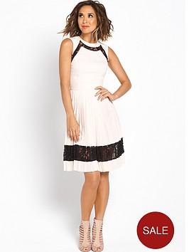 myleene-klass-pleat-skirt-lace-skater-dress