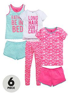 v-by-very-girls-glitter-printed-pyjamas-6-piece