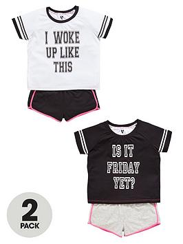 v-by-very-girls-sporty-short-pyjamas-2-pack