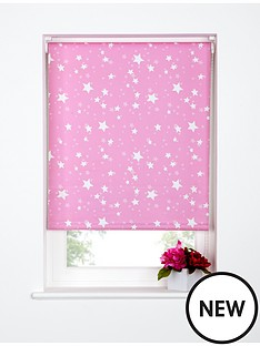star-printed-roller-blind-pink