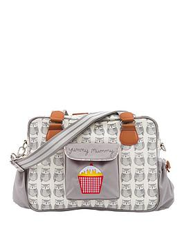 Pink Lining Yummy Mummy Grey Wise Owl Changing Bag