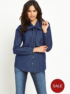 vero-moda-lilly-neck-tie-denim-shirt