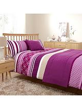 Venice Bed in a Bag in Double and King Sizes - Pink/Purple