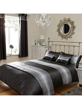 Samsara Duvet Cover And Pillowcase Set  Black