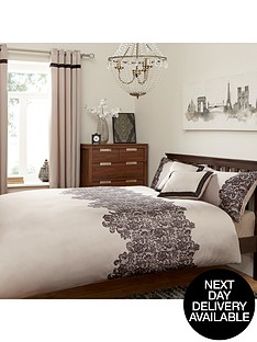 lace-panel-duvet-set-creamblack
