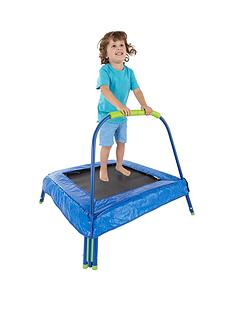 small-wonders-small-wonders-mf-jr-trampoline-with-pad-green-blue