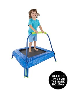small-wonders-small-wonders-mf-jr-trampoline-with-pad-green-blue