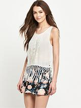 Vintage Fringed Tank Top