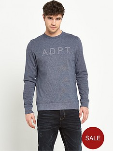 adpt-adpt-leaf-crew-neck-top