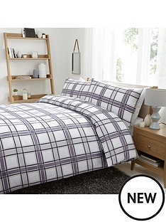 charcoal-check-duvet-cover-set