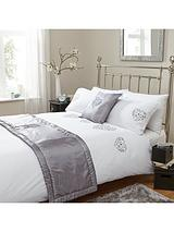 All Heart Bed in a Bag in Double and King Sizes - Grey/White
