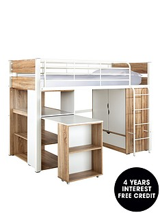 rhys-high-sleeper-with-storage-with-optional-mattress-oakwhite