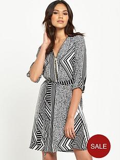 river-island-printed-zip-detail-shirt-dress