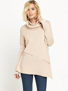 river-island-cowl-neck-zip-front-jumper