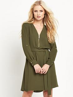 river-island-zip-detail-shirt-dress