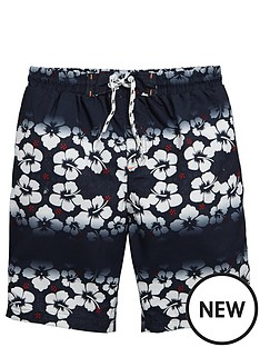 v-by-very-boys-hibiscus-stripe-swim-shorts