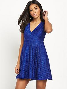 lipsy-deep-v-lace-skater-dress