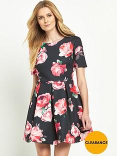 v-by-very-bonded-satin-tea-dress