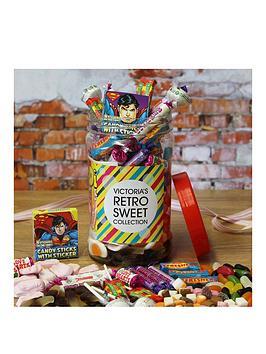 Very Personalised Retro Sweet Jar - Medium Picture