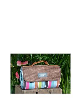 summerhouse-by-navigate-hessian-style-stripe-acrylic-blanket