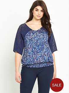 so-fabulous-lace-sleeve-shirred-hem-top