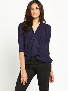 ax-paris-twist-front-knit-top