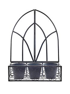 gothic-metal-wall-planter